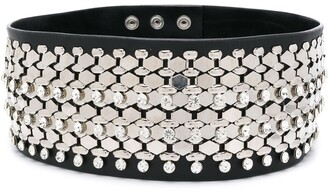 Christopher Kane Triple Chain And Crystal Belt