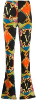 Versace Graphic Print Flared Trousers
