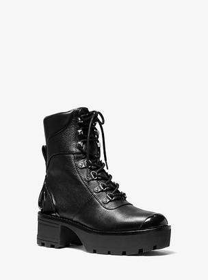 Michael Kors Khloe Leather Combat Boot