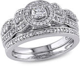 MODERN BRIDE 1/2 CT. T.W. White Diamond 10K Gold Bridal Set