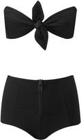 Lisa Marie Fernandez Poppy Textured High-Waisted Bikini