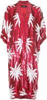 Filles a papa sequin palm tree kimono