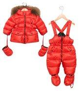 ADD Girls' Fur-Trimmed Puffer Snow Suit Set
