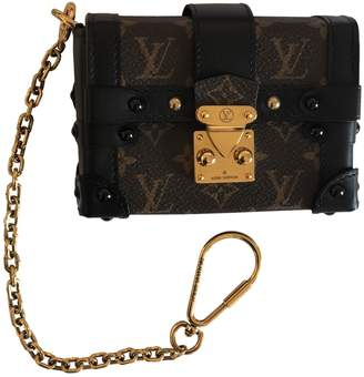 Louis Vuitton Essential Trunk Brown Cloth Clutch Bag