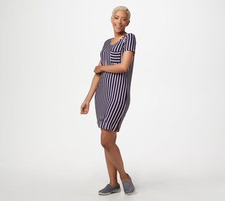 Skechers Apparel Short-Sleeved Striped Renewal Dress
