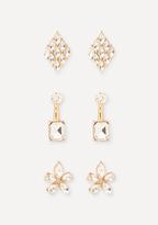 Bebe Crystal Mix Earring Set
