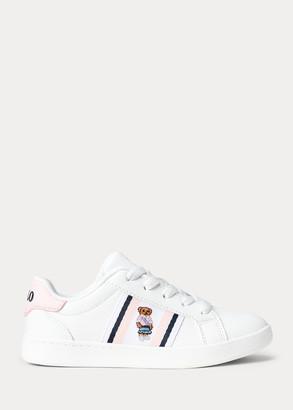 Ralph Lauren Oaklynn Faux-Leather Sneaker