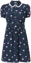 Miu Miu floral print polka-dot dress