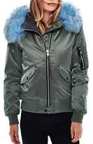 SAM. Jenny Fur Trim Bomber Jacket