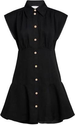 Sandro Cap-Sleeved Mini Shirt Dress
