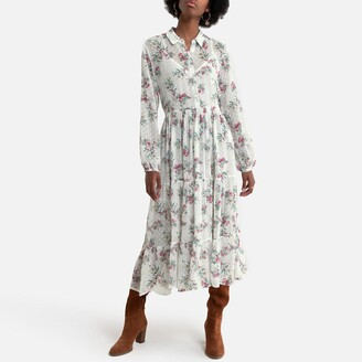 Pepe Jeans Maxi Shirt Dress in Floral Print