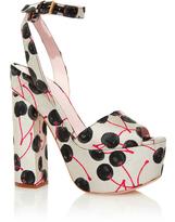 Giamba Cherry Jacquard Platform Sandals