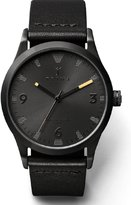 Triwa Sort of Black Men's Unisex Analog Leather Strap Watch LAST110 CL010113
