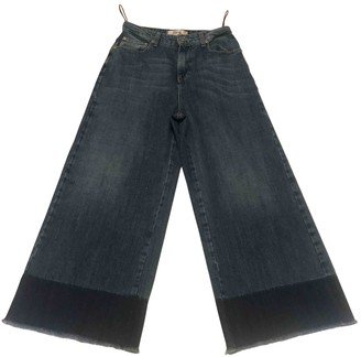 Jucca Blue Cotton Jeans for Women