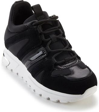 DKNY Women's Sneakers BBL:BLK/BLACK - Black & White May Leather Sneaker - Women