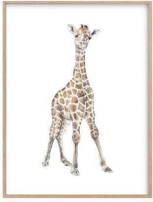 Pottery Barn Kids Baby Giraffe Watercolor Wall Art by Minted®, Black, 18x24