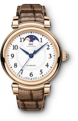 IWC Da Vinci 18K 5N Gold & Alligator Strap Moon Phase Watch
