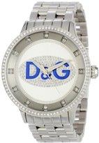 Dolce & Gabbana Men's DW0133 Prime Time Rectangle TV Analog Backlight Case Watch