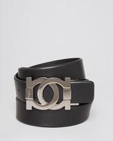 Salvatore Ferragamo Smooth Leather Interlocking Gancini Belt