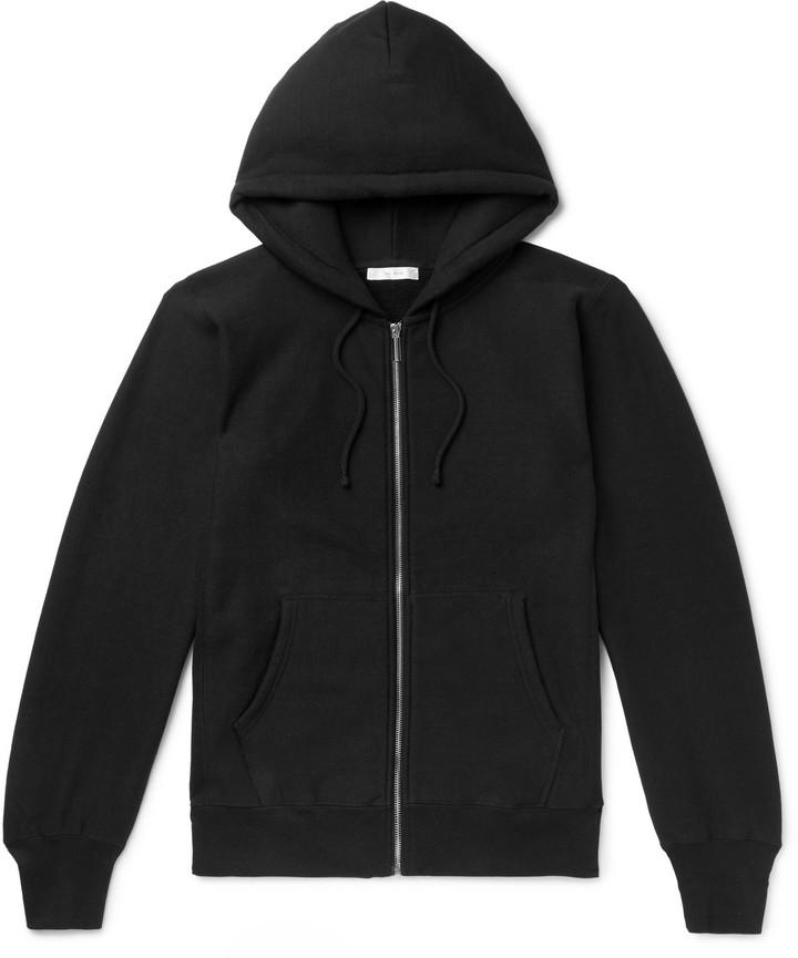 The Row Loopback Cotton-Jersey Zip-Up Hoodie - Men - Black