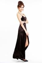 For Love & Lemons On Pointe Maxi Dress in Black