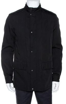 Gucci Black Cotton Blend Zip Front Coat M