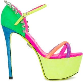 Philipp Plein Colour-Block Platform Sandals