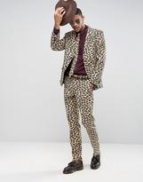 Oppo Suits OppoSuits Slim Leopard Print Suit + Tie