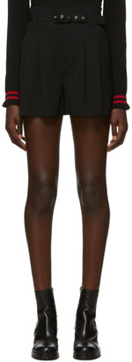 RED Valentino Black Belted Shorts
