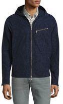 John Varvatos Cotton Blend Hooded Jacket