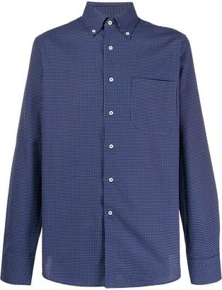 Canali Long Sleeved Checked Shirt