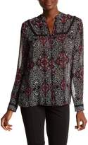 KUT from the Kloth Camilla Print Lace Trim Blouse
