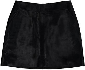 David Koma Black Leather Skirt for Women