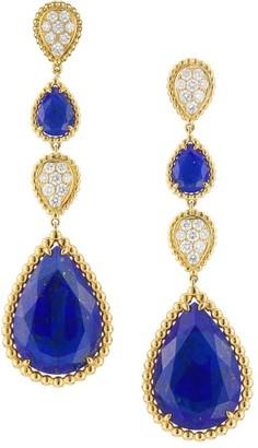 Boucheron Serpent Boheme 18K Yellow Gold, Lapis Lazuli & Diamond Drop Earrings