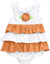 First Impressions Baby Romper, Baby Girls Ruffled Sunsuit