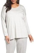 Eileen Fisher Plus Size Women's Stripe Stretch Tencel Terry Top