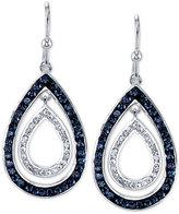Unwritten Silver-Tone Crystal Nested Teardrop Earrings