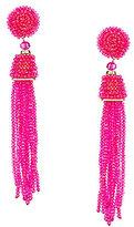Natasha Accessories Beaded Tassel Statement Drop Earrings