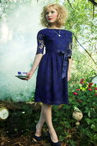 Shabby Apple I'm Late! I'm Late! Dress Navy Blue