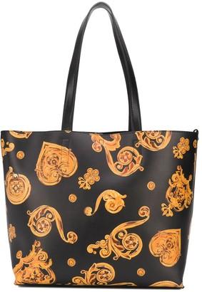 Versace Heart Print Tote Bag