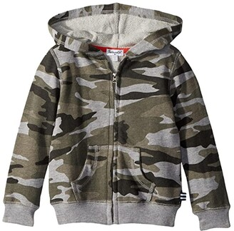 Splendid Littles Camo Hoodie (Little Kids/Big Kids) (Dark Heather Grey) Boy's Sweatshirt