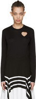 Proenza Schouler Black Heart Cut-Out Pullover