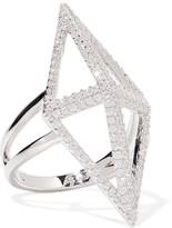 Noir Sant'angelo Silver-Tone Crystal Ring