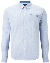 Scotch & Soda Long Sleeve Poplin Shirt, Blue