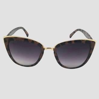 A New Day Women's Leopard Print Cateye Sunglasses Brown