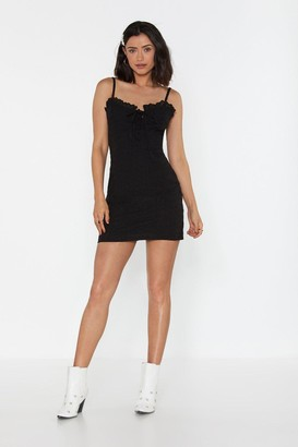 Nasty Gal Womens Heard Sew Much About You Broderie Anglaise Mini Dress - Black