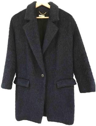 Masscob Blue Wool Coat for Women