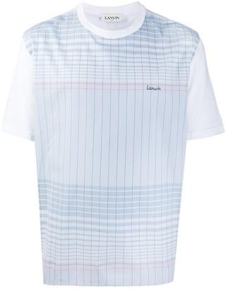 Lanvin check-print T-shirt