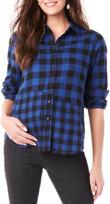 Loyal Hana Maternity Blake Long-Sleeve Flannel Top