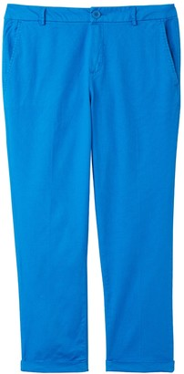 Benetton Straight Ankle Grazer Trousers, Regular Waist